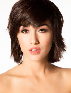 Young model with short hair beauty shot
