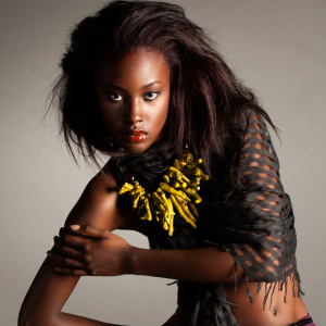 Model beauty shot with jewerly by Charmaine Marshall