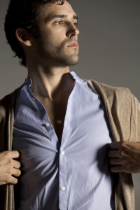 Male model in button down shirt