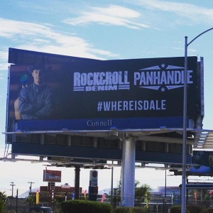 Panhandle and Rock and Roll Denim Billboard Campaign Shot by Shane Klein