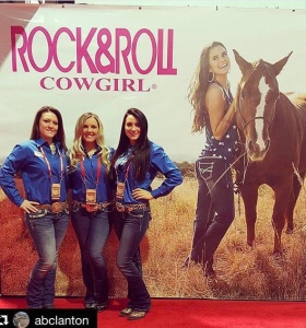 Rock and Roll Cowgirl Booth Poster at National Finals Rodeo Championship 2015