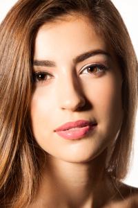 Young model beauty shot