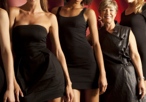 Nancy Campbell may be short compared to the models but she leads like she is 8 feet tall!