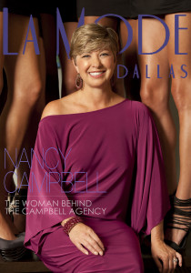 La Mode Magazine Cover with Nancy Campbell shot by Shane Klein Photography